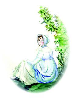 After Cassandra's portrait of Jane Austen - Jane Odiwe