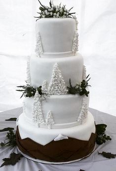 wedding cakes winter Fabulous Winter Wedding Cakes We Adore winter wedding cakes white cristmas cake Christmas Wedding Cakes, Big Wedding Cakes, Elegant Wedding Cakes, Wedding Cake Designs, Wedding Cupcakes, Wedding Cake Toppers, Wedding Ideas, Wedding Bride, Wedding Events