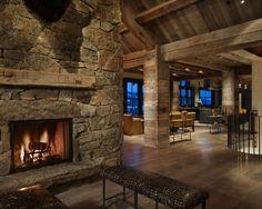 Luxury Mountain Home Design, Yellowstone Club, Rustic Modern, Rustic  Contemporary, Modern Foyer