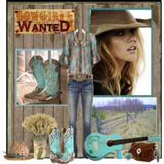 Cowgirls Wanted, created by peachofatl on Polyvore