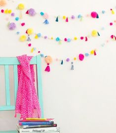75 Best DIY Room Decor Ideas for Teens easy room decor ideas - Diy Decorating Cute Diy Room Decor, Diy Home Decor Rustic, Diy Wall Decor, Diy Wand, Do It Yourself Inspiration, Tassel Garland, Diy Tassel, Garlands, Diy Birthday