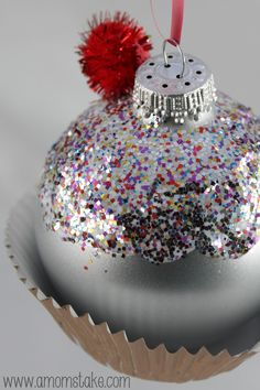 Homemade Christmas Ornament Cupcake!