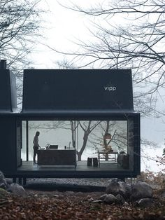 """wetheurban: """" DESIGN: The Vipp Shelter House goals. The Vipp Shelter is a minimalist prefab concept located in Copenhagen, designed by Danish design company Vipp. A 55 square meter steel object. Prefabricated Houses, Prefab Homes, Tiny Homes, Prefab Cottages, Prefab Cabins, Small Cottages, Container Architecture, House Architecture, Beautiful Architecture"""