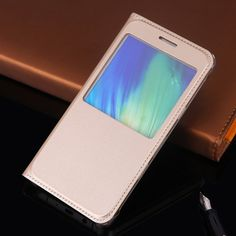 For Samsung Galaxy A5 2016 A510F A7 2016 A710F Case Glass Window View Cover Quick Flip Case For Samsung A7 2016 A5 2016 SM-A510F