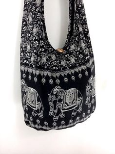 Handbags Cotton bag Elephant bag Printed bag Hippie by veradashop, $8.98