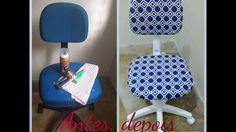 Como reformar uma cadeira de escritório @acasadadinha