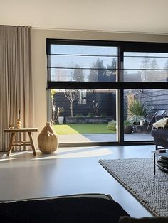 Home Interior Design, Interior Architecture, Interior And Exterior, Home Curtains, Curtains With Blinds, Home Living Room, Living Room Designs, Modern Windows, Modern Country