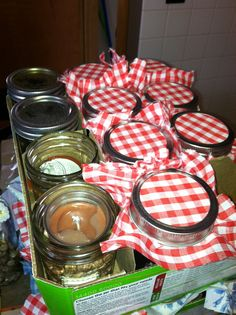 Bridal Shower Favors in a Jar for a Country theme