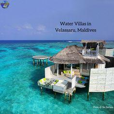 Water Villas in Velassaru, Maldives ------------------------------ Compare Cheap rates in Maldives! -----  travel, Maldives, vacation, beach, resort, getaway, wanderlust, bargain Travel
