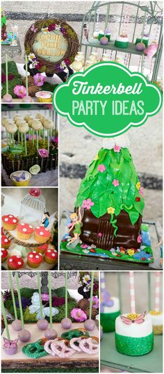 What a fantastic Tinkerbell party with lovely colors! See more party ideas at CatchMyParty.com!