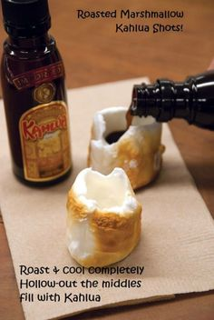 Roasted Marshmallow Kahlua Shots
