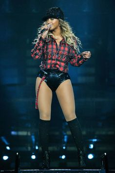 We've rounded up Bey's best tour looks to date, because who can't get enough of her leotards & knee-high boots.