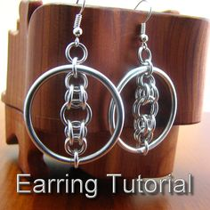 Luna's Halo Chainmaille Earring Tutorial by dancingleafstudios