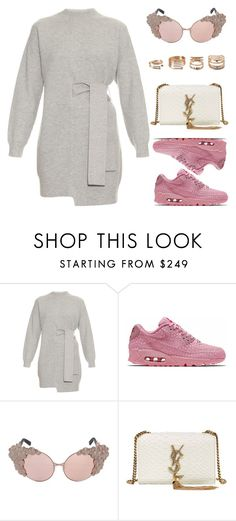 """""""Shanghai"""" by kimeechanga ❤ liked on Polyvore featuring Proenza Schouler, NIKE, Yves Saint Laurent and Forever 21"""