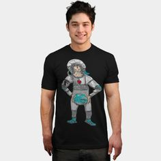 Astronaut With Earth In Hands T Shirt By ElArrogante Design By Humans Ringer Tee, V Neck T Shirt, Tees, Shirts, Shirt Designs, Fancy, Mens Tops, Earth, T Shirts