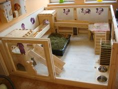 Indoor rabbit enclosure
