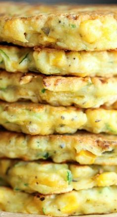 these Zucchini Corn pancakes remind me of a much healthier, more beneficial version of my grandmother's corn fritters. dying to try them.