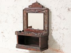 View our Rustic Bathroom Mirror from the collection Vintage Bedroom Furniture, Hallway Furniture, Bedroom Vintage, Vintage Kitchen Cabinets, Kitchen Rustic, Rustic Bathroom Mirrors, Living Room Cabinets, Vintage Mirrors, Vintage Display