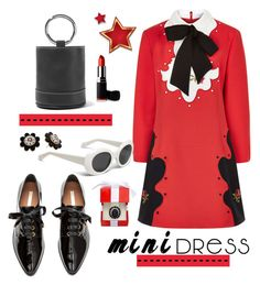 """Holiday Chic: Mini Dresses"" by hamaly ❤ liked on Polyvore featuring VIVETTA, Simon Miller, Kate Spade, outfit, shoes, ootd and minidress"
