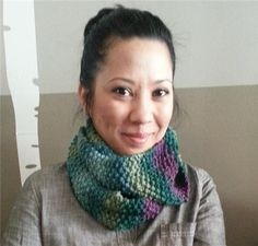 Womans Cowl Scarf  Purple/Green/Blue by ThePurpleYarn on Etsy, $35.00