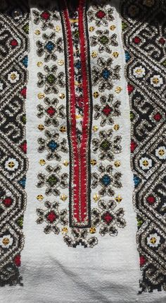 Romanian blouse - ie - detail. Folk Costume, Costumes, Embroidery Motifs, Moldova, Palestine, Origins, Traditional Outfits, Romania, Folk Art