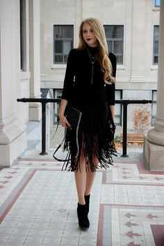 Get this look: http://lb.nu/look/7914672  More looks by Natalie Ast: http://lb.nu/natalieast  Items in this look:  Zara Fringe Skirt, Forever 21 Turtleneck, Winners Lariat Necklace, Rebecca Minkoff Mini Mac, Bcbg Booties   #artistic #chic #minimal