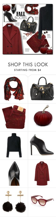 """""""Fall Booties"""" by gracekathryn ❤ liked on Polyvore featuring Marc by Marc Jacobs, Moschino, Nudie Jeans Co., Yves Saint Laurent, Chloe Gosselin, RED Valentino, MCM, fashionset and womensFashion"""