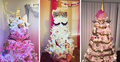 Make your holiday extra sparkly. Unicorn Christmas Decoration, Diy Christmas Tree Topper, Unicorn Christmas Ornament, Diy Tree Topper, Unicorn Ornaments, Easy Christmas Decorations, Cool Christmas Trees, Magical Christmas, Christmas Tree Themes