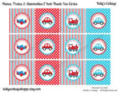 Planes Trains & Automobiles Birthday Party by KellysCottageShoppe