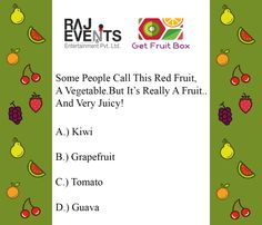 Questionnaire for starts from today in association with Answer the First question of the Fruit Box, Red Fruit, Health Quiz, Delicious Fruit, Healthy Fruits, Healthy Lifestyle, Healthy Living, Entertaining, This Or That Questions