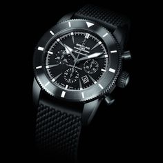 Breitling Superocean Héritage Chronoworks, a 100-piece Limited Edition, featuring an all-black version with a brand-new matt ceramic case