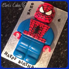 Lego spiderman cake :)
