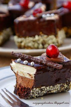 Chocolate Christmas Cake, Oreo Cupcakes, Polish Recipes, Polish Food, Creme Fraiche, Cake Pops, Cheesecake, Mini, Sweet