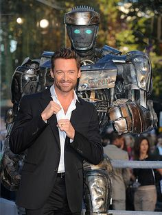 """Real Steel"" Hugh Jackman with Atom- great film!"