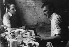 Robert Rauschenberg and Jasper Johns in lower Manhattan, in the mid 1950s.