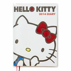 Hello Kitty A6 Diary 2014 Appointment Book Notebook Ribbon Sanrio from Japan