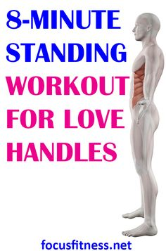 Standing Workout for Love Handles for Men and Women - Focus Fitness Oblique Workout, Six Pack Abs Workout, Fat Workout, Home Exercise Routines, At Home Workouts, Core Workouts, Workout Routines, Strengthen Shoulders, Lower Body Fat