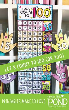 Counting Poster in Ten Frames - print and make for the classroom!