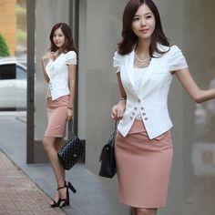 Fashion women's 2014 suit set professional skirt work wear women suit skirt