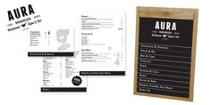 MENU DESIGN Aura Broadbech Bar