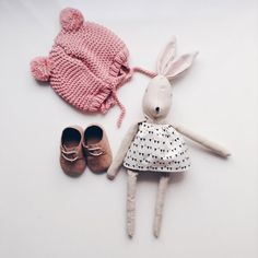 Nela handmade rag doll bunny doll