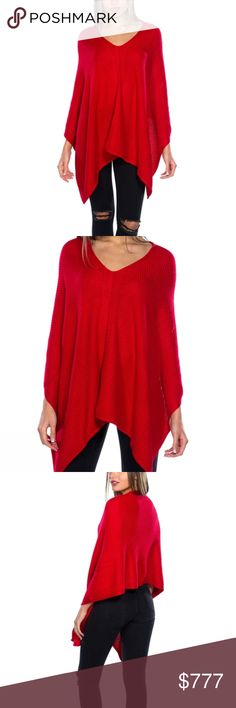 COMING SOON! WILL BE $45 RED KNITTED PONCHO COMING SOON  Brand new Boutique item Price is firm  Light weight red knitted poncho. Easy to grab and go for a chic and classy look! Comfortable and can be paired over your favorite dress, or with jeans and a top or even with a tank top and shorts. Goes with everything!  ONE SIZE FITS MOST 50% ACRYLIC / 42% NYLON / 8% MERCERIZED WOOL ... Sweaters Shrugs & Ponchos