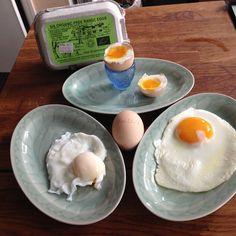 Instagram> @one_basket> #MacLeodOrganics Eggs from @realfoods_uk #Edinburgh #HardBoiledEgg #BoiledEgg #FriedEgg #PoachedEgg