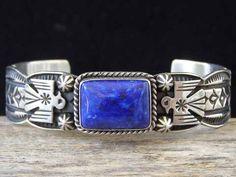 Andy Cadman Lapis Lazuli Thunderbird cuff