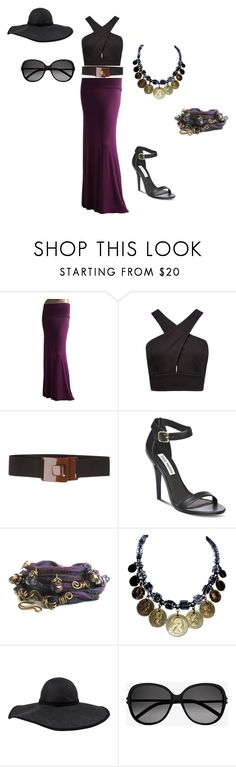 """Purple Deco"" by chrissle64 ❤ liked on Polyvore featuring Forever New, P.A.R.O.S.H., Steve Madden, Frette and Yves Saint Laurent"