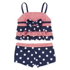 Red, White and Blue Sailor Tankini – Preschool Girls 4-6x  found at @JCPenney