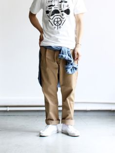 Ordinary fits Tuck T/C Chino Pants