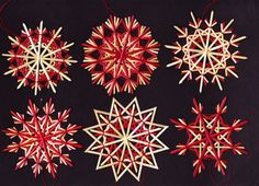 Strohsterne: 6er-Set DUNKEROT adR44 von Handgefertigte Strohsterne auf DaWanda.com
