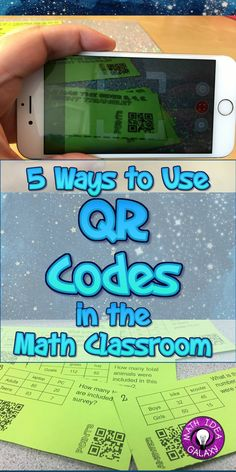 5 Ways to Use QR Codes in the Math Classroom - QR Codes have definitely brightened up my classroom. Check out these 5 ways to use QR Codes in the math classroom to give students immediate feedback . E Learning, Blended Learning, Math Games, Math Activities, Math 8, Guided Math, 7th Grade Math, Third Grade, Secondary Math
