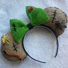 Oogie Boogie Man Nightmare Before Christmas Park Ears Headband by TheSweetMouse on Etsy https://www.etsy.com/listing/387046198/oogie-boogie-man-nightmare-before